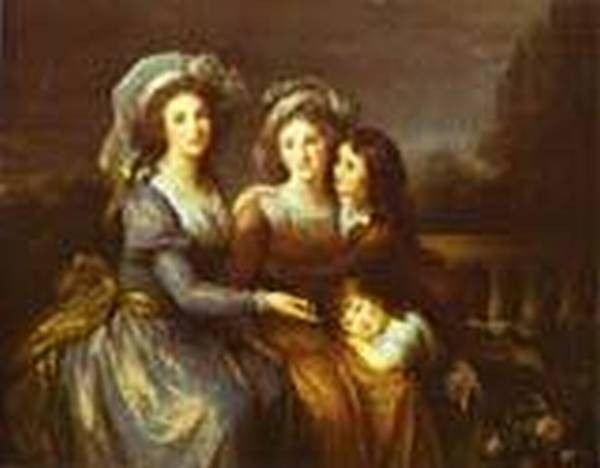 The marquise de peze and the marquise de rouget with her two children 1787 xx national gallery of art washington usa